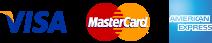 Visa, Mastercard, American Express.