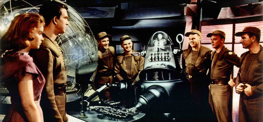 forbidden planet Classic '50s sci-fi flick is campy fun read common sense media's forbidden planet review, age rating, and parents guide.